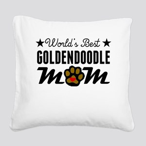 World's Best Goldendoodle Mom Square Canvas Pillow