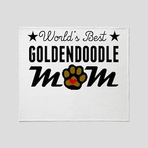 World's Best Goldendoodle Mom Throw Blanket
