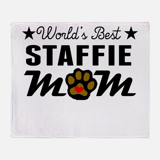 World's Best Staffie Mom Throw Blanket