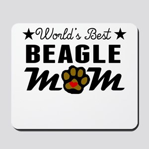 World's Best Beagle Mom Mousepad