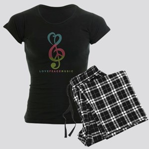 Love Peace Music Treble Symbol Modern Pajamas