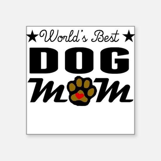 World's Best Dog Mom Sticker