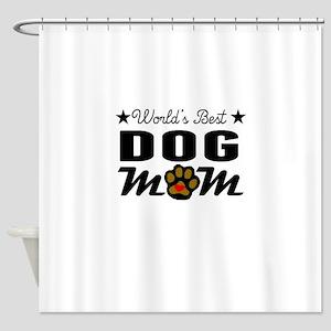 World's Best Dog Mom Shower Curtain