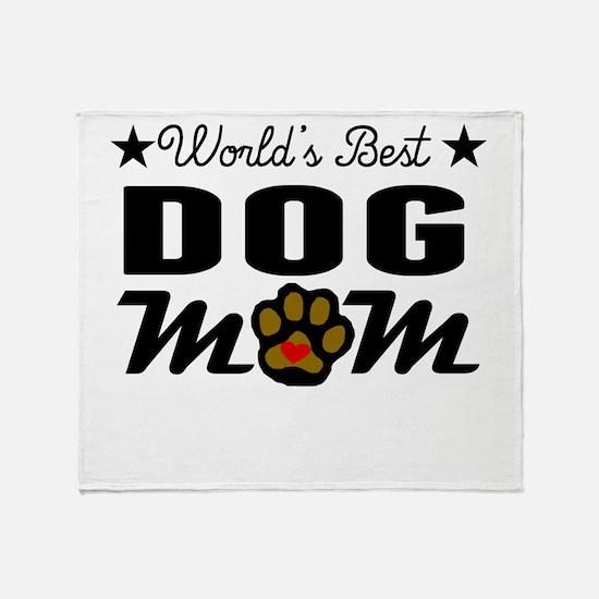 World's Best Dog Mom Throw Blanket