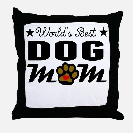 World's Best Dog Mom Throw Pillow