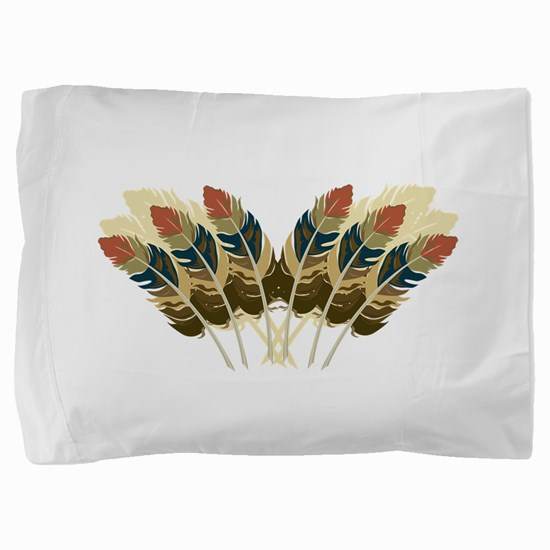 Fall Color Feathers Pillow Sham