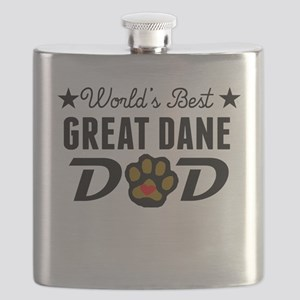 World's Best Great Dane Dad Flask