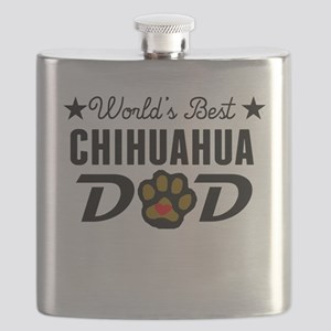World's Best Chihuahua Dad Flask