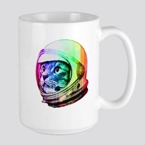 Astronaut Space Cat (digital rainbow ve Large Mug