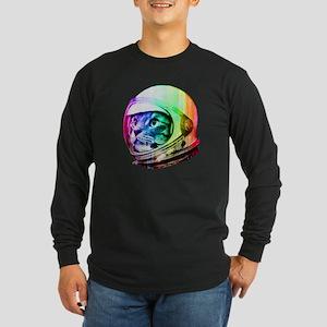 Astronaut Space Cat (digi Long Sleeve Dark T-Shirt