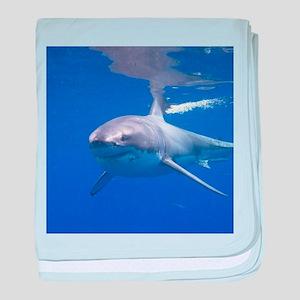 GREAT WHITE SHARK 4 baby blanket