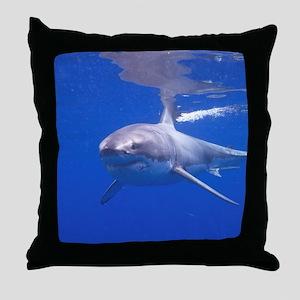 GREAT WHITE SHARK 4 Throw Pillow