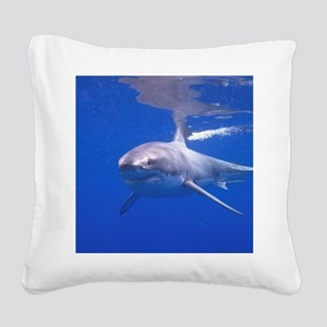 GREAT WHITE SHARK 4 Square Canvas Pillow