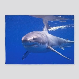 GREAT WHITE SHARK 4 5'x7'Area Rug