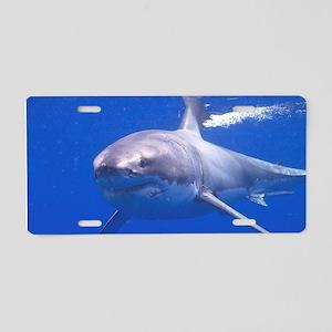 GREAT WHITE SHARK 4 Aluminum License Plate