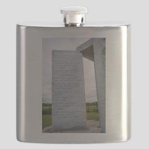 Georgia Guidestones English Flask