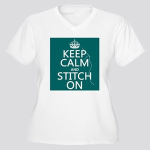 Keep Calm and Stitch On Plus Size T-Shirt