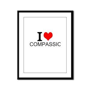 I Love Compassion Framed Panel Print