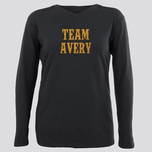 TEAM AVERY Plus Size Long Sleeve Tee
