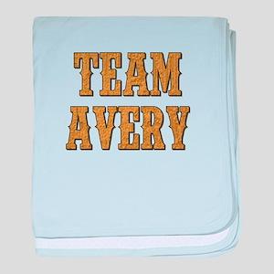 TEAM AVERY baby blanket