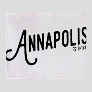 Annapolis Maryland Throw Blanket