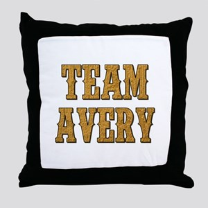 TEAM AVERY Throw Pillow