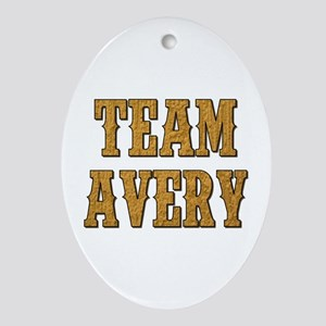 TEAM AVERY Oval Ornament