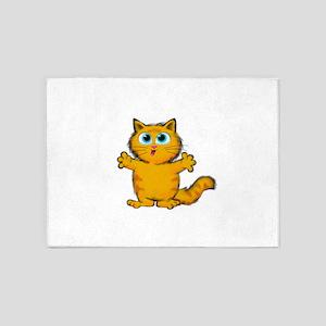 itty bitty kitty 5'x7'Area Rug