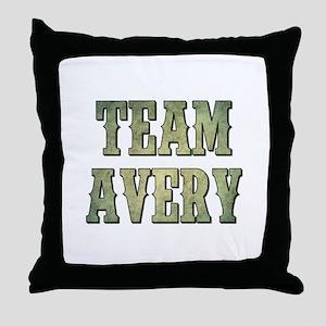 TEAM AVERY Throw Pillow