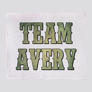 TEAM AVERY Throw Blanket
