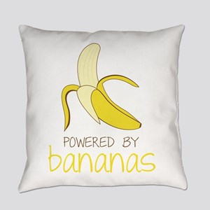 Powered By Bananas Everyday Pillow