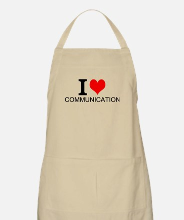 I Love Communications Apron