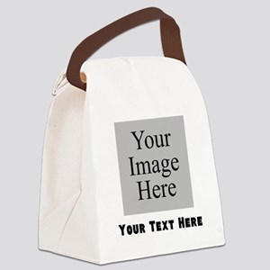 Your Image And Text Canvas Lunch Bag
