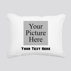 Custom Picture And Text Rectangular Canvas Pillow