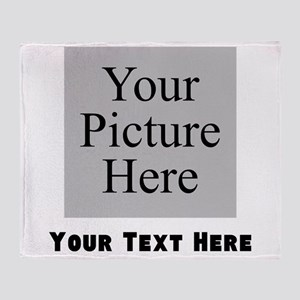 Custom Picture And Text Throw Blanket