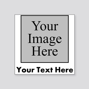 Custom Image And Text Sticker