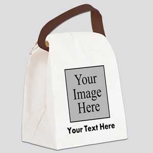 Custom Image And Text Canvas Lunch Bag
