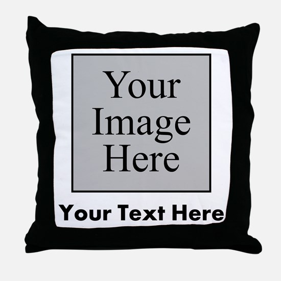 Custom Image And Text Throw Pillow