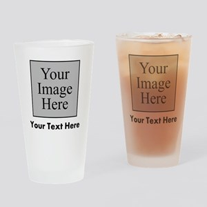Custom Image And Text Drinking Glass