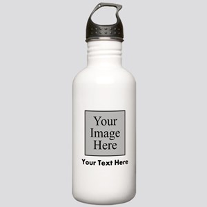 Custom Image And Text Water Bottle