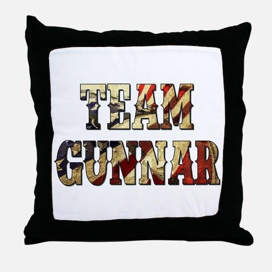 TEAM GUNNAR Throw Pillow