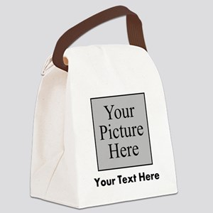Custom Picture And Text Canvas Lunch Bag