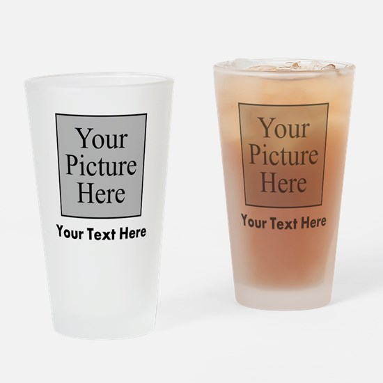 Custom Picture And Text Drinking Glass