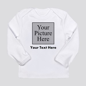Custom Picture And Text Long Sleeve T-Shirt