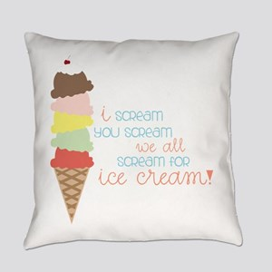 We All Scream For Ice Cream! Everyday Pillow