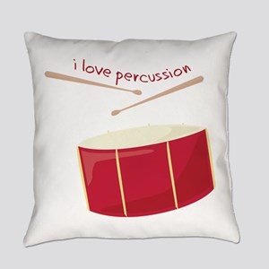 I Love Percussion Everyday Pillow