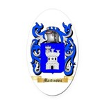 Martinovic Oval Car Magnet