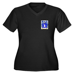 Martinoli Women's Plus Size V-Neck Dark T-Shirt