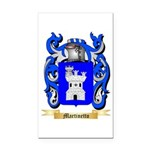 Martinetto Rectangle Car Magnet