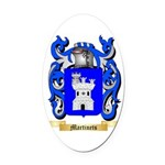 Martinets Oval Car Magnet